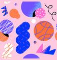 abstract retro 90s cartoon shape seamless pattern