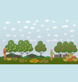 apple hunting season concept flat vector image vector image