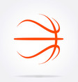 basketball abstract simple line drawing vector image vector image