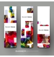 Beautiful banner template with abstract vector image vector image