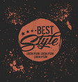 best style badge label vector image