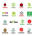 biggest collection of logos bamboo vector image vector image