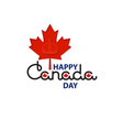 canada day lettering isolated on white vector image vector image