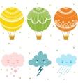 Cartoon air balloon icon vector image