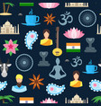 cartoon india seamless pattern background vector image vector image