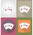casino flat icons 01 vector image vector image