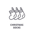 christmas socks line icon outline sign linear vector image vector image