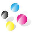 cmyk emblem for prepress printing press press vector image