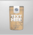 coffee packaging design template package for your vector image