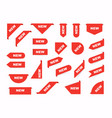 collection sale tags new signs isolated vector image