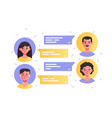 comments with avatar icons man and woman vector image