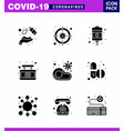coronavirus prevention 25 icon set blue infected vector image vector image