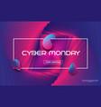 cyber monday sale techno styleliquid color vector image vector image