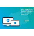 data protection landing page template eps vector image