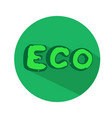 eco lettering icon vector image