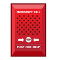 Fire Emergency call Sign vector image