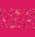 floral pattern with leaves and dots in minimal vector image vector image