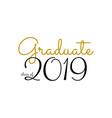 graduation label text for graduation vector image