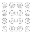 gray line web icon set circle vector image vector image