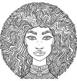 hand drawn doodle girlss face on white background vector image vector image