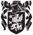 heraldic silhouette No4 vector image vector image