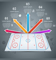 hockey field template - business infographic vector image
