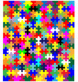 jigsaw pieces in colour vector image