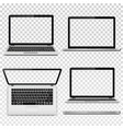 laptops with transparent screen isolated on vector image vector image