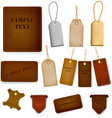 leather labels and tags vector image vector image