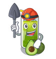 miner avocado smoothies are isolated on characters vector image vector image