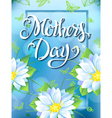 mothers day lettering poster advertising spring vector image