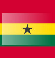 original and simple ghana flag in official colors vector image