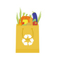 paper package with fresh healthy produce organic vector image