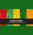 pentagon pattern set pizza story seamless vector image vector image