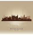 Peterborough England city skyline silhouette vector image vector image