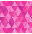 Pink vintage textile triangles seamless pattern vector image vector image