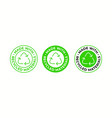 recycling icon made recycled material package vector image vector image