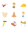 Repair tools icons set cartoon style vector image vector image