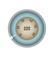 round speedometer with pointer that moves and vector image