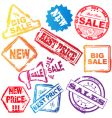 sale stamp set vector image vector image