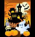 scene with halloween theme 5 vector image vector image