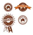 set of vintage badge label logo template vector image vector image
