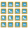 shoe icons azure vector image vector image