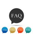 speech bubble with text faq information icon vector image vector image