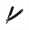 straight razor on white vector image vector image