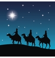 three wise men on camels icon graphic vector image vector image