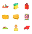 Transfer icons set cartoon style vector image vector image