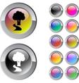 Tree multicolor round button vector image vector image