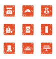 trifle icons set grunge style vector image vector image