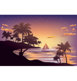 Tropical Island at Sunset3 vector image vector image